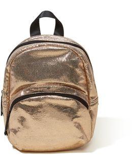 Metallic Mini Backpack