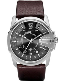 Dz1206 Master Chief Brown Leather Men`s Watch