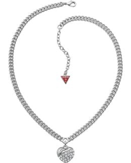 Crystal Crush Silver Heart Necklace