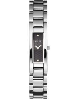 Selene Black Dial Stainless Steel Watch