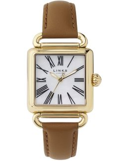 Driver White Mother Of Pearl Watch