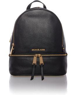 Rhea Zip Black Small Backpack