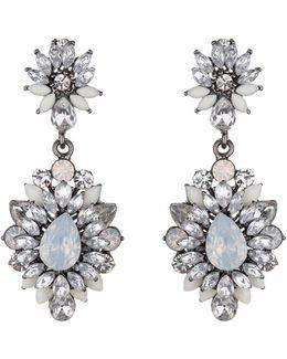 Drop Flower Crystal Earring