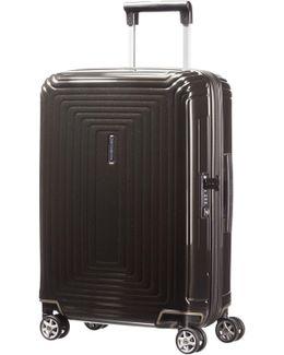 Neo Pulse Metallic Black 4 Wheel 55cm Cabin Case