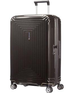 Neo Pulse Metallic Black 4 Wheel 69cm Medium Case