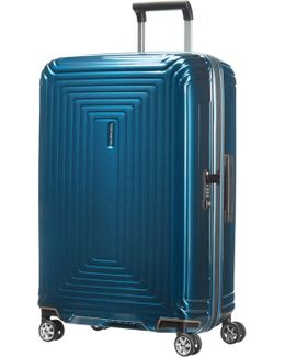 Neo Pulse Metallic Blue 4 Wheel Cabin Suitcase