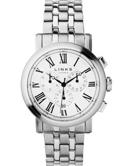 Richmond White Dial Chronograph Watch