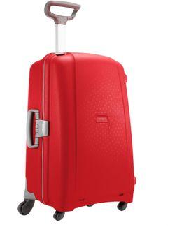 Aeris Red 4 Wheel Hard 75cm Large Suitcase