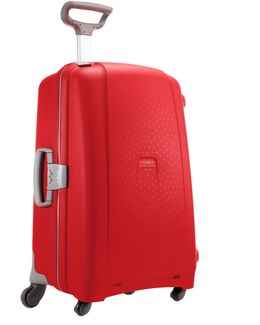 Aeris Red 4 Wheel Hard 81cm Extra Large Suitcase