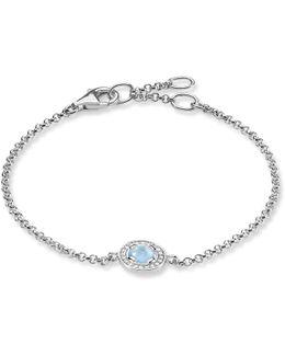 Light Of Luna Milky Aqua Silver Bracelet