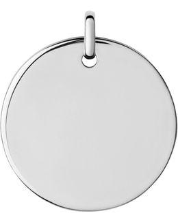 Narrative Large Round Disc Pendant
