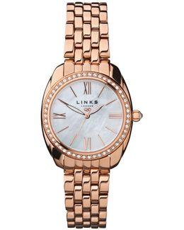 Bloomsbury Rose Gold & Crystal Watch