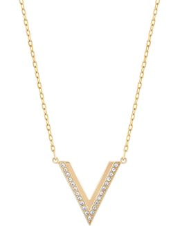 Delta Crystal V Small Pendant Necklace