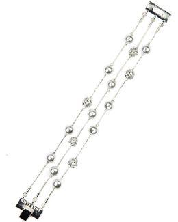White Pearl Flex Bracelet