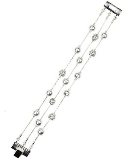 Imitation Rhodium Flex Bracelet