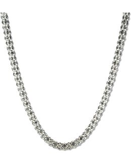 Tubular Pave Collar Necklace