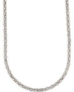 Tubular Pave Strand Necklace