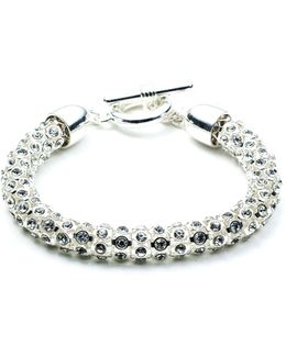 Tubular Pave Toggle Bracelet