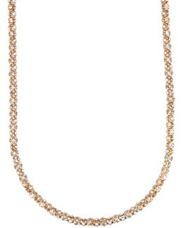 Tube Pave Strand Necklace