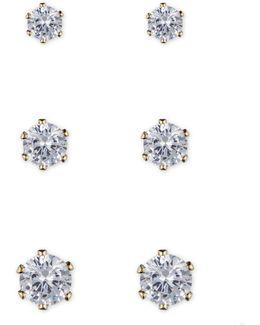 Crystal Stud Earring Set