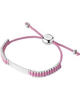 Sterling Silver & Pink Cord Baby Friendship Id Br