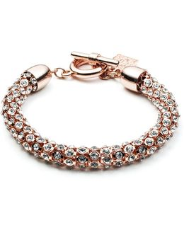 Rose Goldtone And Crystal Bracelet