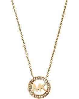 Mkj4732710 Ladies Logo Pendant Necklace