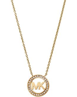 Mkj4732710 Ladies Logo Pendant Necklace