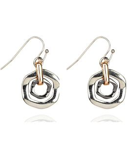 Tri Tone Orbital Drop Earrings
