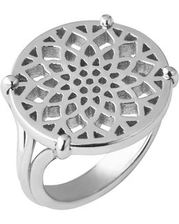Timeless Sterling Silver Coin Ring- Size L