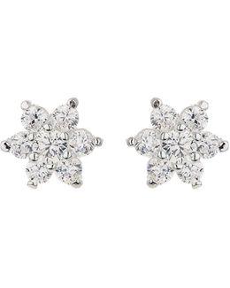 Silver 925 Pins Daisy Crystal Stud