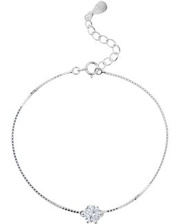 Silver 925 Round Crystal Stone Pendant