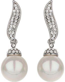 Twisted Stem Pearl Drop Earring