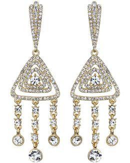 Diamond Filigree Crystal Drop Earring