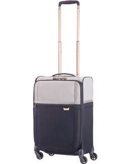 Uplite Pearl & Navy 4 Wheel 55cm Cabin Suitcase