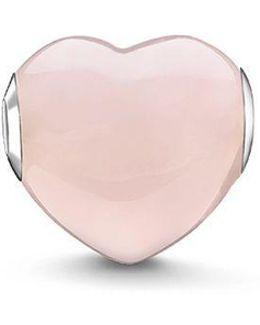 Rose Quartz Heart Karma Bead