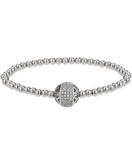 Filigree Solid Crystal Bead Bracelet