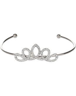 Edged Crown Design Cuff Bracelet