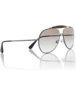 Grey Pilot Pr 56ss Sunglasses