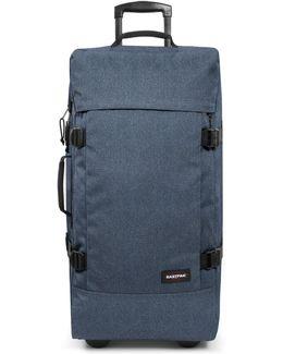 Tranverz Large Double Denim Wheeled Suitcase