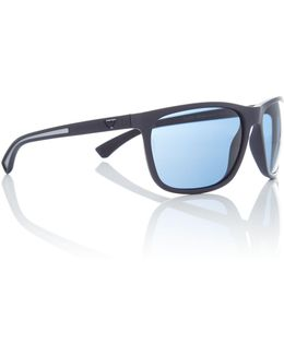 Blue Rectangle Ea4078 Sunglasses