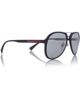 Blue Rubber Pilot 0ps 05rs Sunglasses