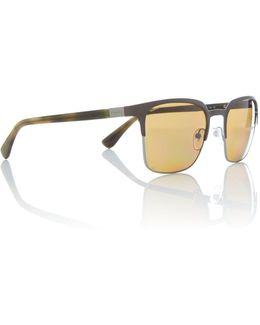 Grey Square 0pr 61ss Sunglasses