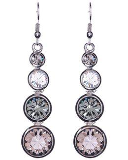 Silver Swarovski Teardrop Earrings