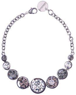 Silver Swarovski Teardrop Bracelet