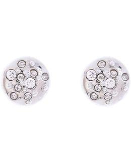 Silver & Crystal Sprinkle Stud Earrings