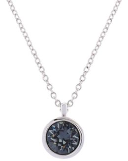 Silver & Grey Crystal Dot Necklace
