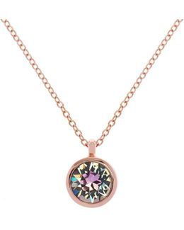 Rose Gold & Lilac Crystal Dot Necklace