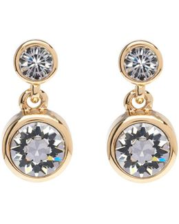 Gold & Crystal Dot Drop Earring
