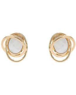 Mother Of Pearl Rhythmic Stone Earring